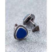 Dare by Voylla Blue Stone Triangular Shaped Milestone Cufflinks