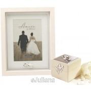 Caseta pentru verighete si rama de nunta