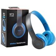 Bluetooth fejhallgató mikrofonal ,rádio fm és SD kártya ,ST3 kék