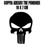 coppia adesivi THE PUNISHER 10 x 7 cm