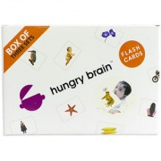 Hungry brain BOX OF 3 C Flash cards- Easy fun way of learning-Gift box for kids