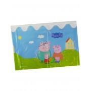 Vegaoo Plastduk från Greta Gris med tryck av familjen 130 x 180 cm One-size