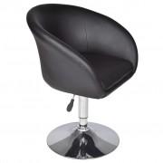 vidaXL Бар стол, устойчив полиуретан, черен