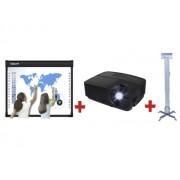 SET: TABLA INTERACTIVA IQBoard DVT100+VIDEOPROIECTOR 3D INFOCUS IN112a+SUPORT DE TAVAN PT. VIDEOPROIECTOR PRB-2