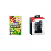 New Super Mario Bros. U Deluxe Nintendo Switch + PowerA Cargador Joy Con Switch