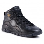 Обувки NIKE - Air Jordan 10 Retro Bg 310806 012 Black/Black Drk Grey/Mtllc Gld