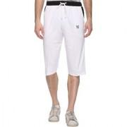 Vimal-Jonney White Cotton Blended Capri For Men