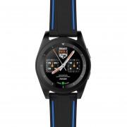 Louiwill Moda NO.1 G6 Reloj Inteligente Bluetooth 4.0 Monitor De Ritmo Cardíaco Rastreador De Ejercicios Llamada SMS Recordatorio Cámara Remota Para Android IOS Smart Phones (Negro)