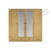 Expedo + Dulap din lemn masiv LUCY L01, 210x200x57cm, stejar-lac