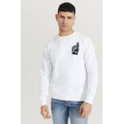 Wood Wood Sweatshirt Hugh Sweatshirt Vit