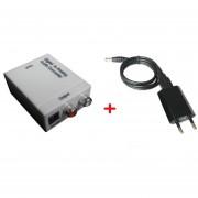 Coaxial Digital óptico Toslink RCA De Señal Al Adaptador Del Convertidor Bo Audio Analógico