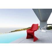 24Designs Stapelbare Stoel Salento - Kunststof - Rood
