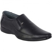Shoebook Men's Black Leather Slip On