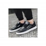 Moda salvaje moda casual monopatin zapatos hombre negro