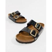 Birkenstock Черные сандалии с принтом Birkenstock Arizona - Черный