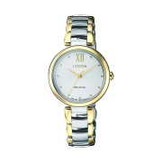 Citizen Eco-Drive Ladies Two Tone Watch EM0534-80A (Silver & Gold)