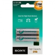 SONY Rechargeable Battery 2X AA Batteries NH-AA-B2KN 2700 mAh + (free shipping) 2Pcs