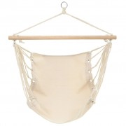 vidaXL Hammock Chair Cream 100x80 cm