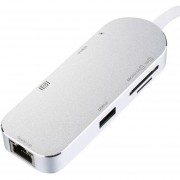 4K Video HD / VGA Gigabit Adaptador Ethernet USB 3.0 USB C Tipo C HUB