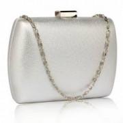 Geanta clutch argintie din acrilic Leesun de dama LSE00335