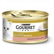 Gourmet Megapack Gold Soufflé 48 x 85 g - Pack mixto: salmón / pollo