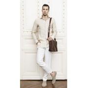 Pantaloni albi in la comanda Slim Fit Gentlemen`s Corner