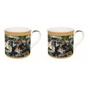 R2S.171REN1 Porcelán bögre 2db-os dobozban,300ml,Renoir:Bál a Le moulin de la Galette-nél