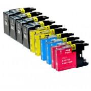 (10pack) BROTHER LC1280 XL VALBP multipack - kompatibilné náplne do tlačiarne Brother