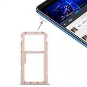 JUNXI Phone Bandeja de Tarjeta SIM + Bandeja de Tarjeta SIM/Bandeja de Tarjeta Micro SD for Huawei Honor Play 7X (Negro) + Alta Calidad (Color : Gold)