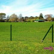 vidaXL Euro ograda 10x1,7 m čelik zelena
