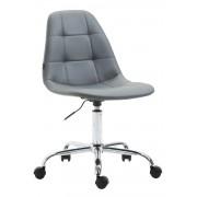 Sedia da ufficio REIMS in similpelle, grigio CLP, grigio, altezza seduta
