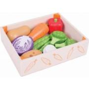 Cutiuta cu legume din lemn