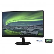 "Philips IPS monitor 23"" - 237E7QDSB/00 1920x1080, 16:9, 250 cd/m2, 5ms, VGA, DVI, HDMI"
