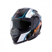 NEXX Casco Integrale Carbonio X.T1 Carbon Raptor White Orange