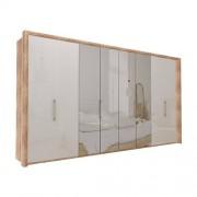 Garderob Atlanta - Ljus rustik ek 400 cm, 236 cm, Med ram