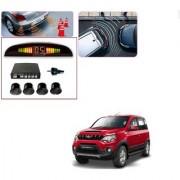Auto Addict Car Black Reverse Parking Sensor With LED Display For Mahindra NuvoSport