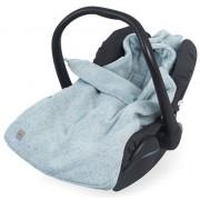 Sac de dormit tricotat Jollein Confetti pentru scaun auto si carucior 025-811-65141, Bumbac (Verde)