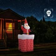 vidaXL Дядо Коледа в комин, автоматично задвижване, LED, IP44, 180 см
