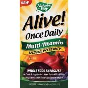 vitanatural alive once daily multi-vitamin ultra potency 60 comprimés