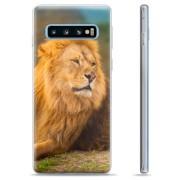 Samsung Galaxy S10+ TPU Case - Leeuw