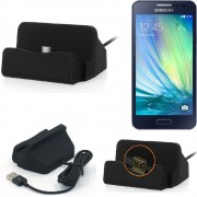 Charge Station D'accueil Base De Chargeur Pour Samsung Galaxy A5 Dock Chargement Micro Usb Desktop Charger Charging Stand Cradle Black - K-S-Trade (Tm)