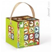Puzzle copii cu două feţe Grădină Janod 16-20-24-30 buc 02824
