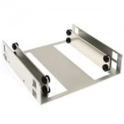 Adaptor Lian Li HD-323 de la 3.5 inch la 2x 2.5 inch HDD/SSD, aluminiu, culoare argintie
