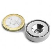 Magnet neodim oala cu gaura ingropata, Fi 25 mm, putere 19 kg