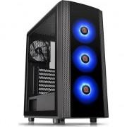 Carcasa PC Thermaltake Versa J25 Tempered Glass RGB (CA-1L8-00M1WN-01) , Turnul Midi , 7 sloturi , Conector pentru casti + difuzoare + microfon
