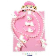 My Party Store DOT COM Cute Stylish Accessories Set for Girls/Kids (Pack of 5) for Durga Pooja, KANJAK, Navratri, Birthdays and Parties (Light Pink)