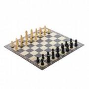 Joc de societate pentru copii - Sah de lemn + CADOU Carti de joc Domino