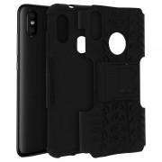 Avizar Funda Antigolpes con Función Soporte Negra para Xiaomi Mi A2 Lite