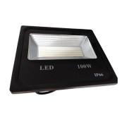 Proiector LED exterior, negru , 100W , lumina rece, 9000lm IP66 ,negru