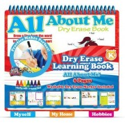 "The Smart Dudes Dry Erase Learning Book with Tabs ~ All About Me (6 Pages; 11.25"" x 11.25"")"